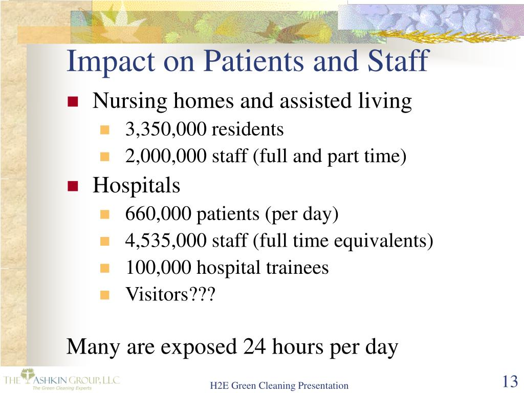 Impact on Patients and Staff