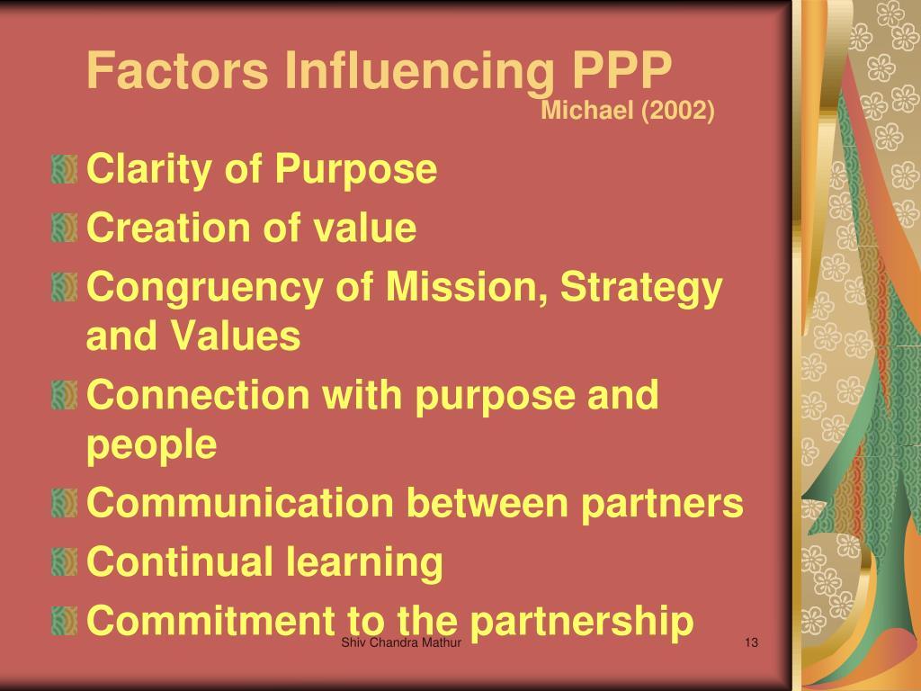 Factors Influencing PPP
