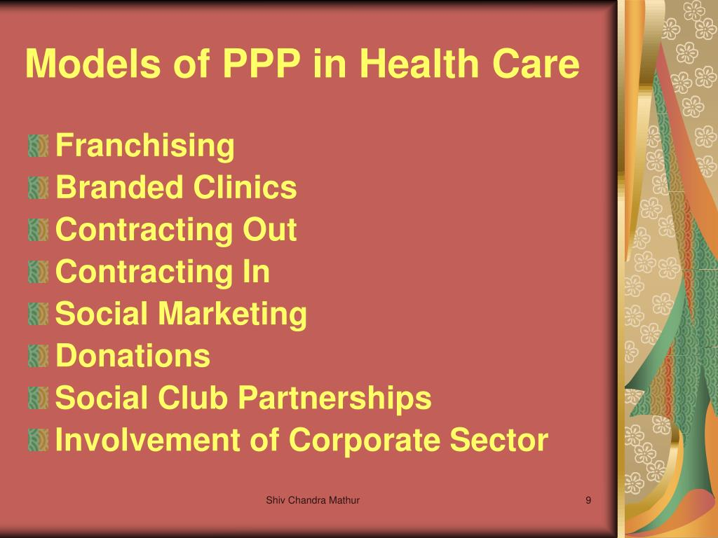 Models of PPP in Health Care