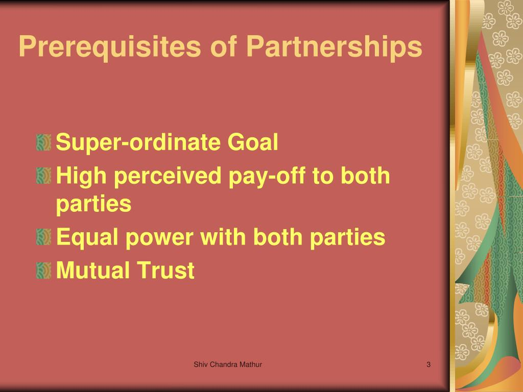 Prerequisites of Partnerships