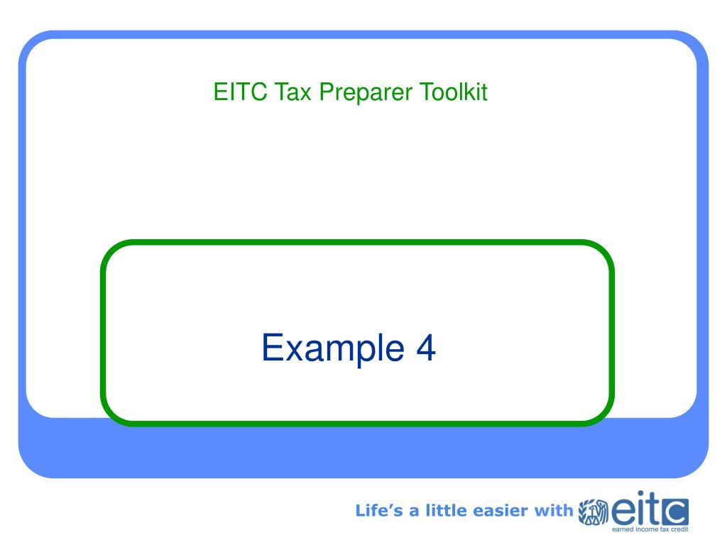 EITC Tax Preparer Toolkit