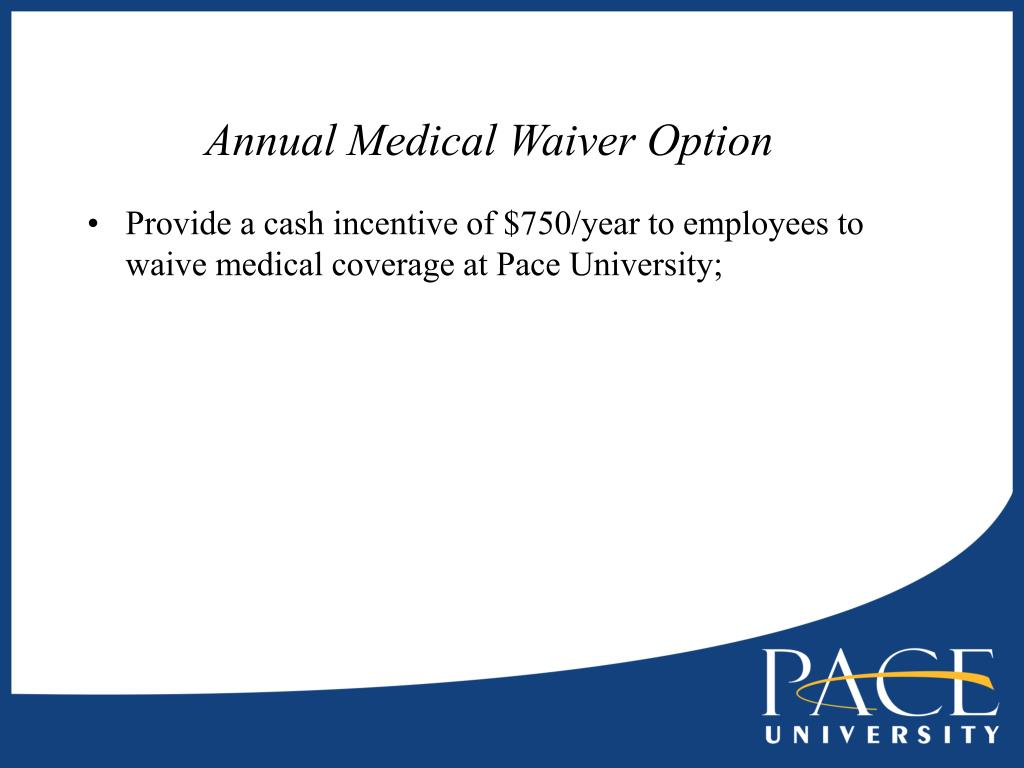 Annual Medical Waiver Option