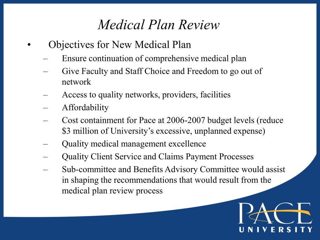 Medical Plan Review