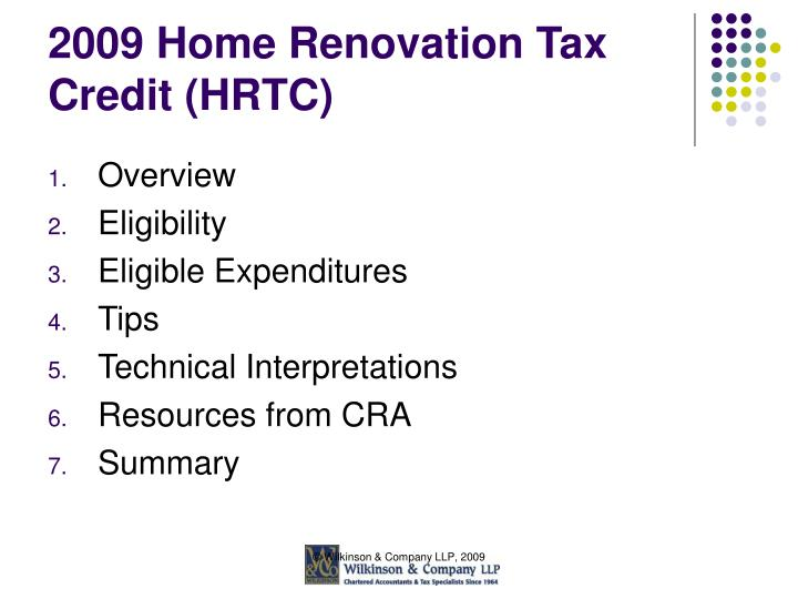 2009 home renovation tax credit hrtc2