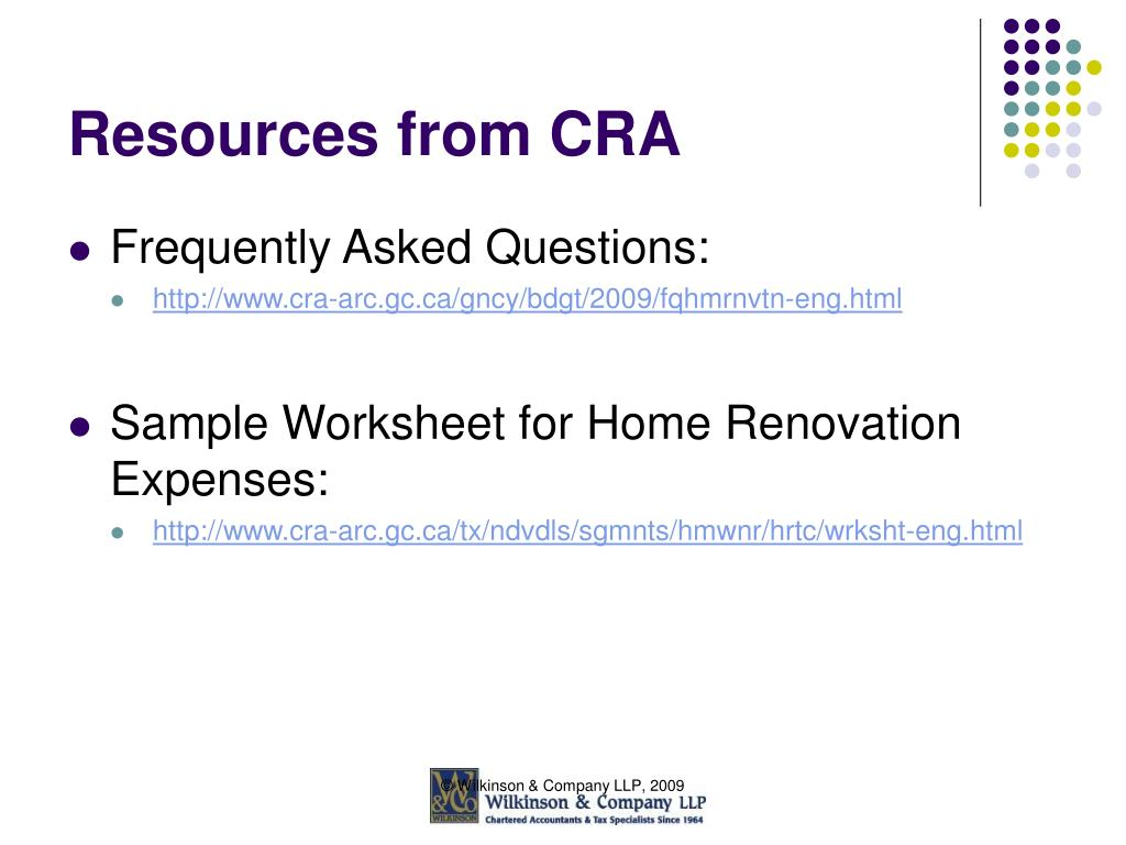 Resources from CRA