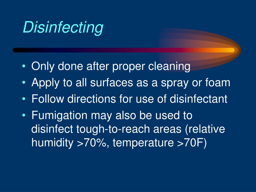 Disinfecting