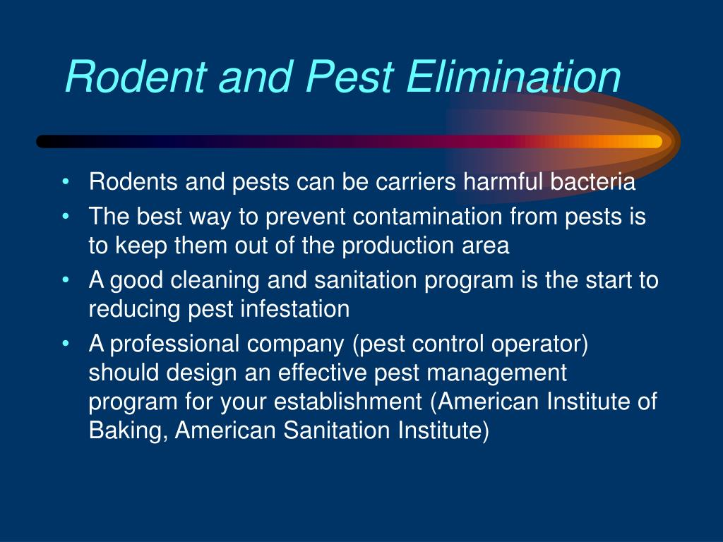Rodent and Pest Elimination