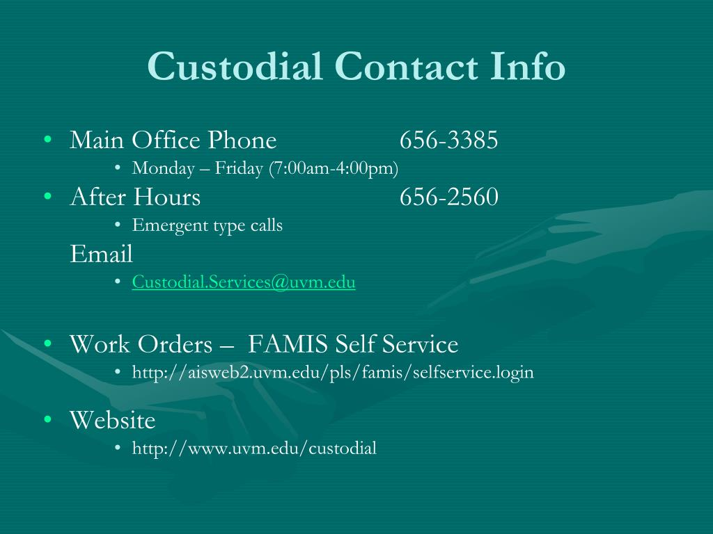 Custodial Contact Info