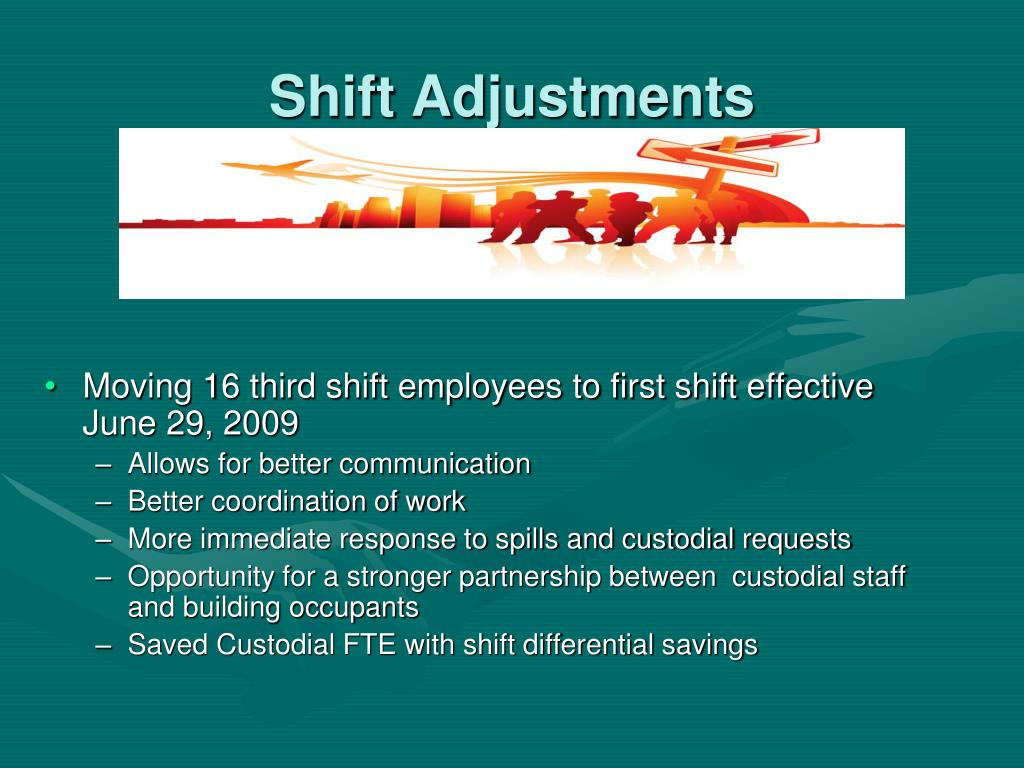 Shift Adjustments