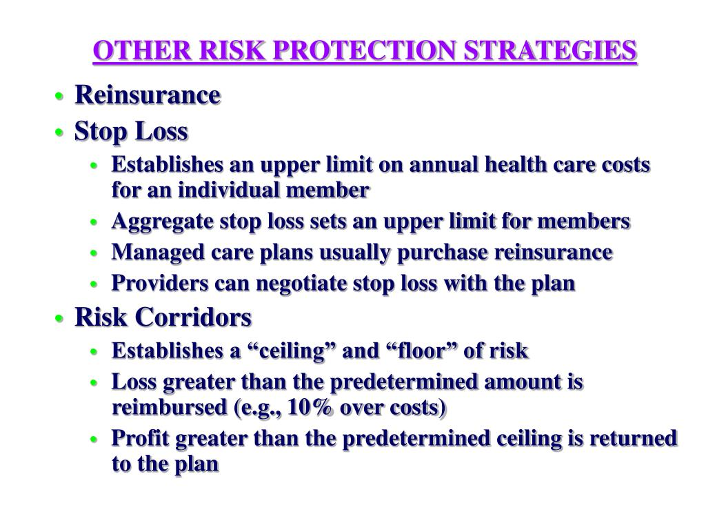OTHER RISK PROTECTION STRATEGIES