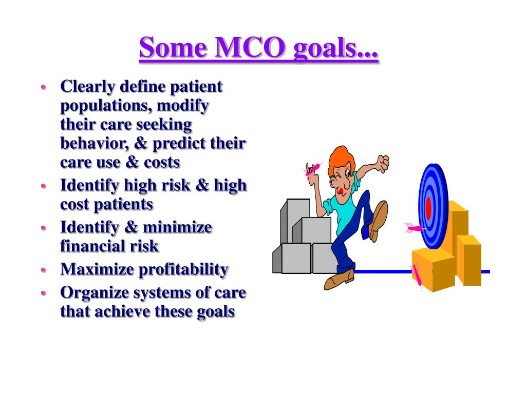 Some MCO goals...