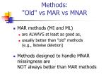 methods old vs mar vs mnar