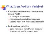 what is an auxiliary variable