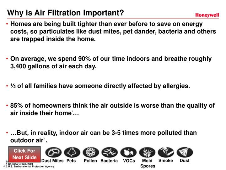 Why is air filtration important