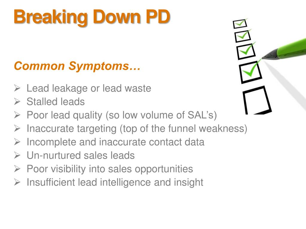 Breaking Down PD