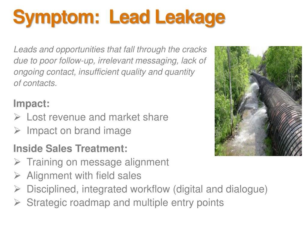 Symptom:  Lead Leakage