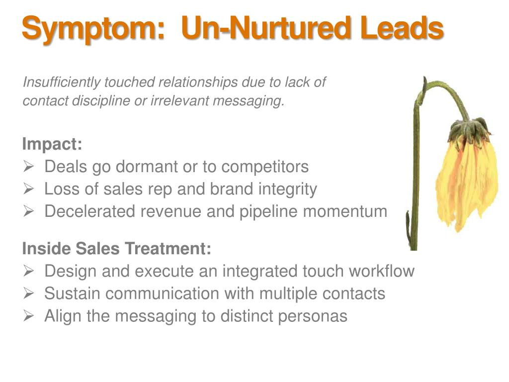 Symptom:  Un-Nurtured Leads