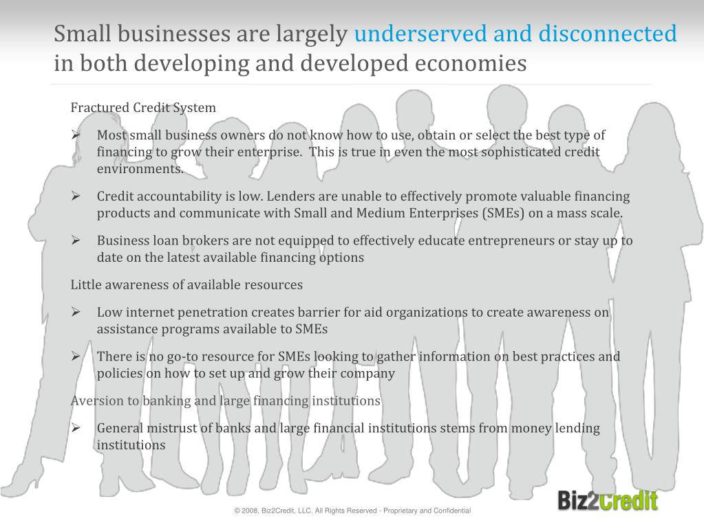 Small businesses are largely