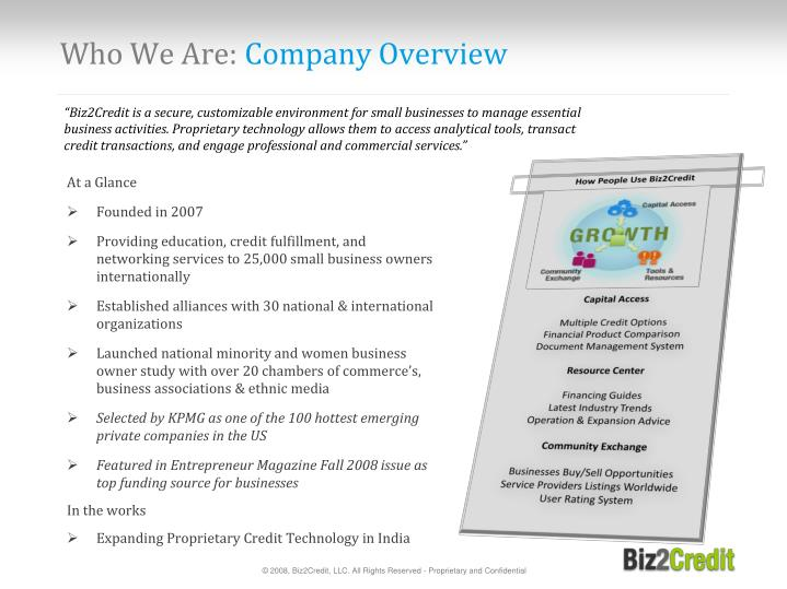 Who we are company overview