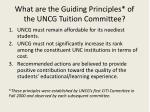 what are the guiding principles of the uncg tuition committee