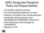 jarc designated recipient roles and responsibilities