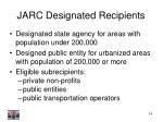jarc designated recipients