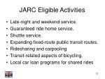 jarc eligible activities