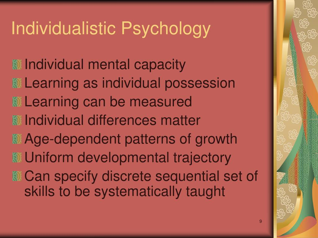 Individualistic Psychology
