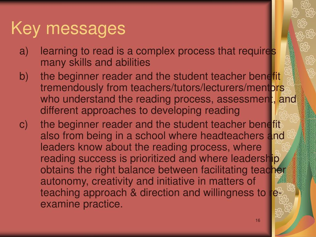 a) learning to read is a complex process that requires many skills and abilities