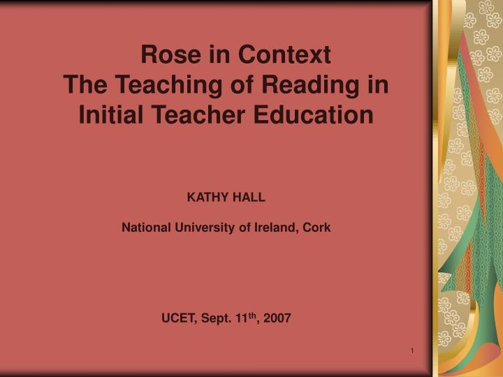 Rose in Context