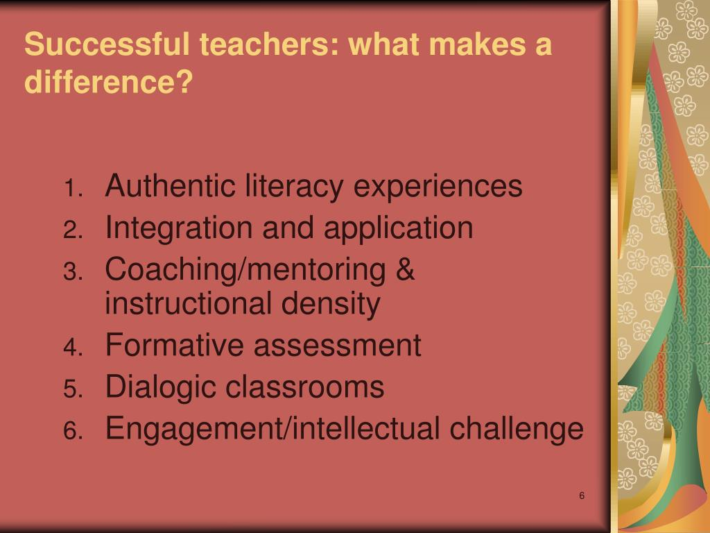 Successful teachers: what makes a difference?