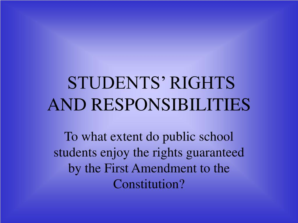 students rights and responsibilities