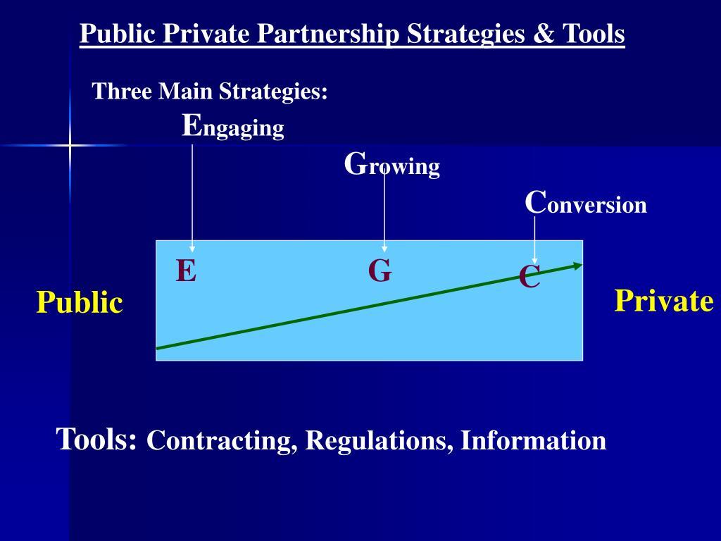 Public Private Partnership Strategies & Tools