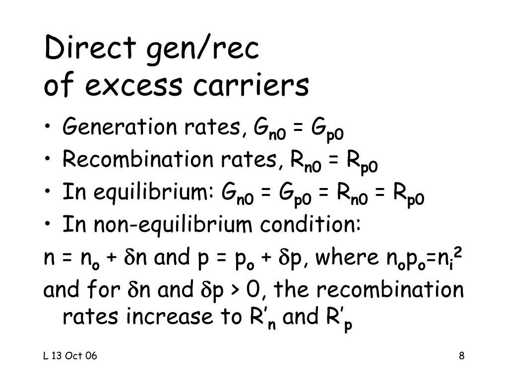 Direct gen/rec