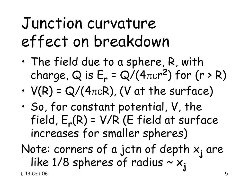 Junction curvature