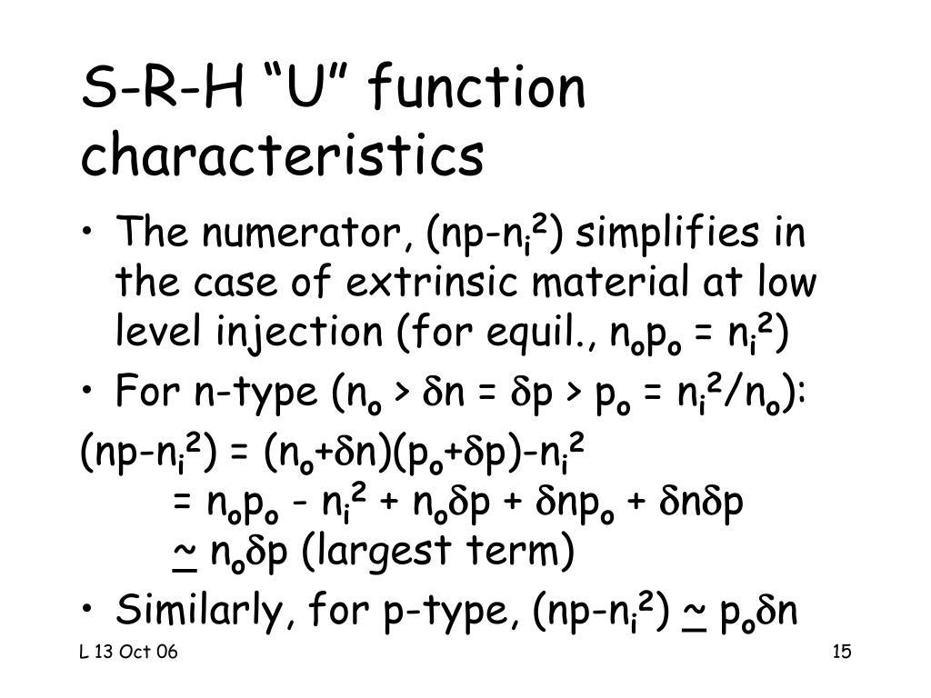 """S-R-H """"U"""" function"""