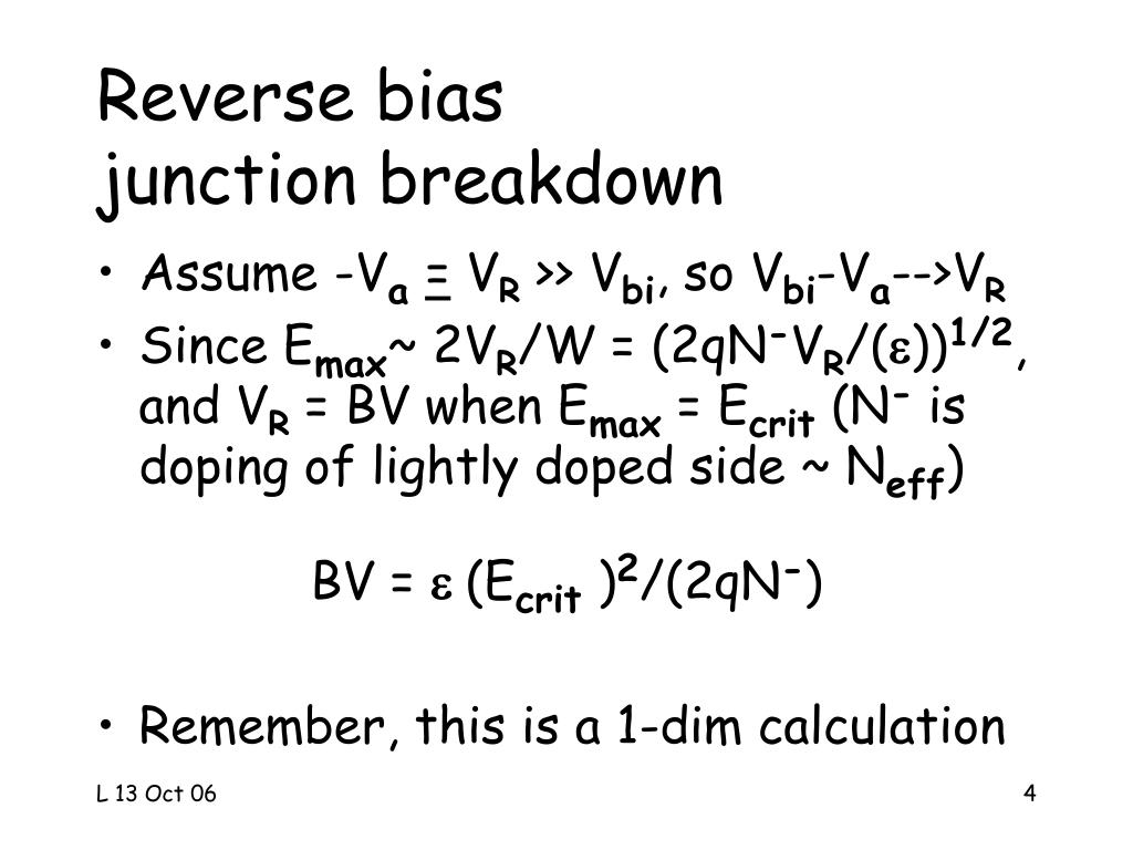 Reverse bias