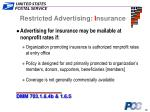 restricted advertising i nsurance