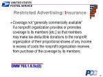 restricted advertising i nsurance22