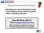 restricted advertising t ravel18