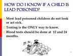 how do i know if a child is lead poisoned