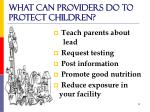 what can providers do to protect children