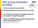 why is lead poisoning an issue