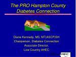 the pro hampton county diabetes connection