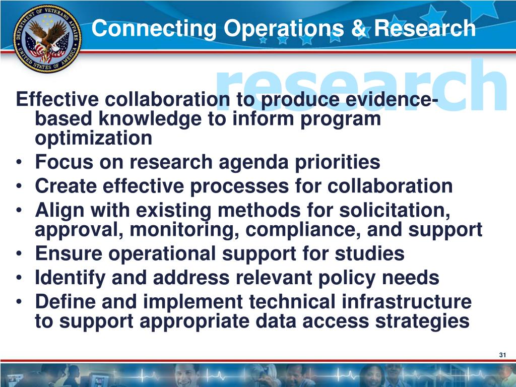 Connecting Operations & Research