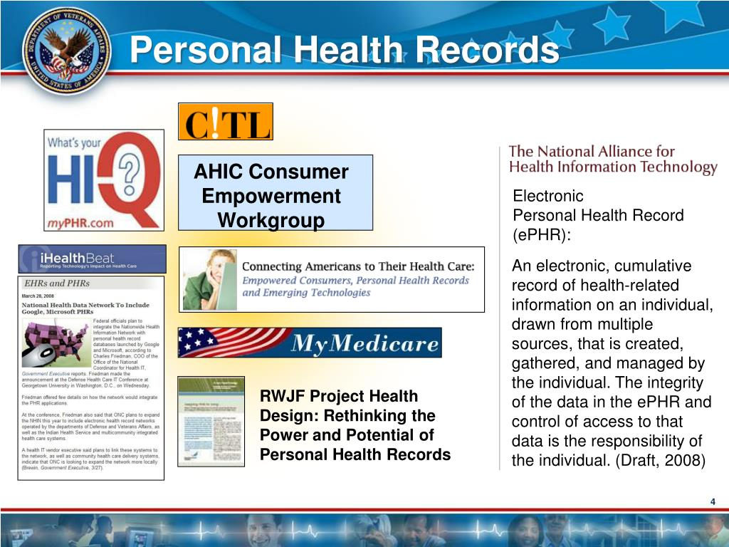 RWJF Project Health Design: Rethinking the Power and Potential of Personal Health Records