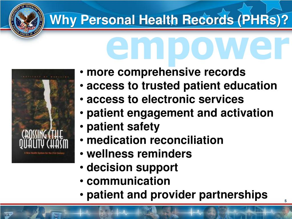 Why Personal Health Records (PHRs)?