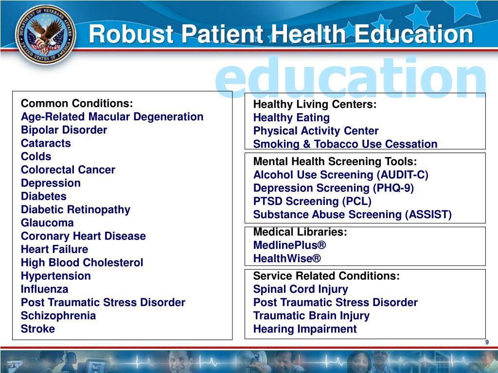 Robust Patient Health Education
