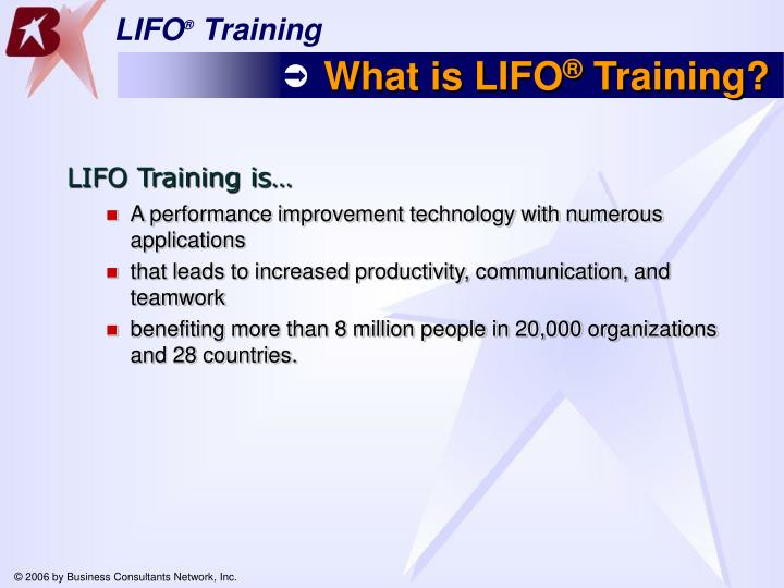 What is lifo training