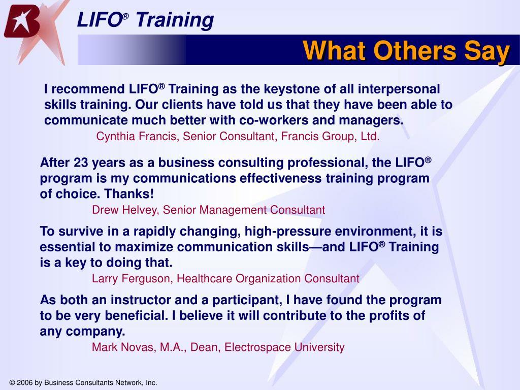 I recommend LIFO